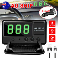 2018 GPS HUD Speedometer Digital Heads Up Display Car Speed Warning Plug Kit