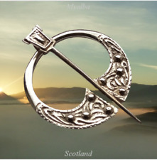 Vintage Scottish Iona Sterling Silver Penannular Brooch  Robert Allison 1954