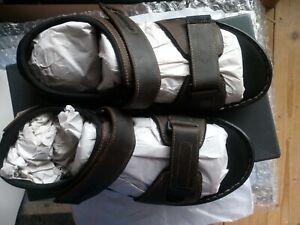 Rockport Mens Darwyn Qtr Straps Leather Sandals Brown Size 11