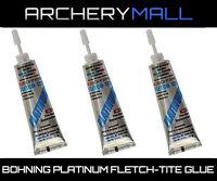 3 Pack of Bohning Fletch Tite Platinum Adhesive 3/4oz Tube Glue Arrow