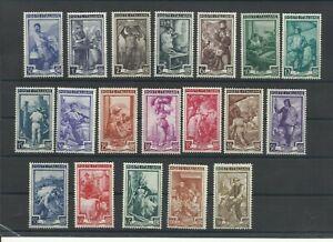 1950 ITALIA REPUBBLICA ITALIA AL LAVORO 19 VALORI COMPLETA NUOVI MNH**