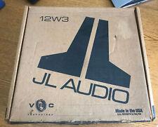 "JL Audio 12W3-D4 12"" DVC subwoofer,Rare,Vintage, In Box 250 Watt"