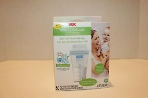 New unopened Nuk Simply Natural seal and go breast milk bags 50 count