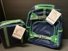 Pottery Barn Kids Navy Green Small BACKPACK + Classic LUNCH Bag School GIFT NEW