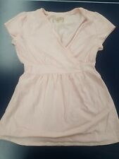 Motherhood Maternity Womens Size Medium Stretch Pink Short Sleeve Dress