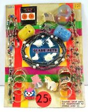 Rings Glass Pets Necklace Pins Charms Gumball Vending Machine Disp Card #90