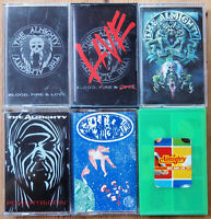 6x THE ALMIGHTY CASSETTE TAPES LOT - ALL EXCELLENT COND - HARD ROCK METAL 90s