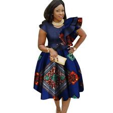 African Cotton Dashiki Wax Print Summer Dress for Women X11935