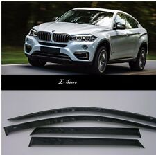 For BMW X6 F16 2014-2019 Side Window Visors Sun Guard Vent Deflectors