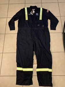 Mens 5XL Berne FR Flame Resistant Deluxe Unlined Coverall FRC04NV HRC2