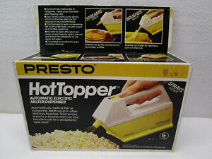NEW Vtg Presto Hot Topper Automatic Electric Butter Melter Dispenser Sprayer