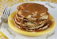 "☆""RECIPE""☆Banana Chocolate Chip Pancakes W/Peanut Butter Syrup☆Wake Me Up!!!☆"
