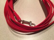 """15 ft. dog lead training, 5/8""""wide, webbed RED for small/med dogs,NWOT"""