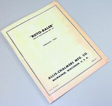 ALLIS CHALMERS AC ROTO HAY BALER SERVICE REPAIR MANUAL TECHNICAL SHOP BOOK