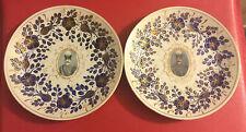 Antique Persian Portrait Plates Naser ad-Din Shah Qajar