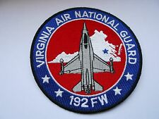 usaf  America air force squadron cloth patch virginia air national guard 192fw