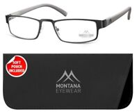 Stainless Steel READING GLASSES SPECTACLES SPEX GREY GUNMETAL +1 1.5 2 2.5 3 3.5