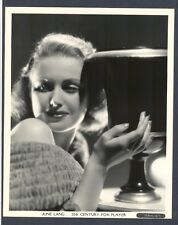 FANTASTIC PORTRAIT OF BEAUTIFUL JUNE LANG - 1930s PHOTO IN NEAR MINT CONDITION !