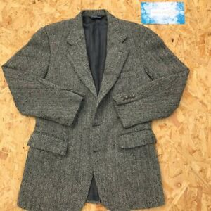 Ralph Lauren Scottish Tweed Silk Lined Herringbone Blazer