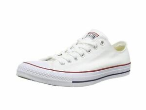 Converse Unisex Chuck Taylor All Star Low Top Optical White Sneakers M8.5/W10.5