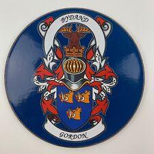 Family Coat of Arms Surname Coaster GORDON Heraldic Crest Circular Drinks Mat