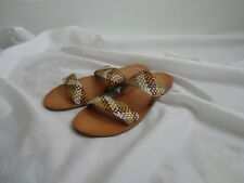 Frye 8 Ruth NWOT Woven Double Strap Sandals Shoes