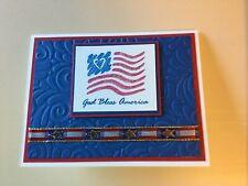 Stampin Up 5 Card Kit God Bless America Patriotic Red White Blue Flag