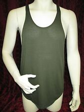 Physique Bodyware Soft Y-Back Stringer tank top Army Green (L)
