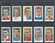 More details for hill - famous footballers (coloured, address) - full set of 50 cards
