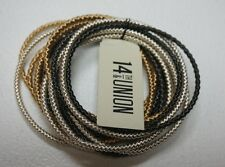 NEW 14TH AND UNION NORDSTROM RACK MULTI COLOR BANGLE STRETCHY CHAIN BRACELET