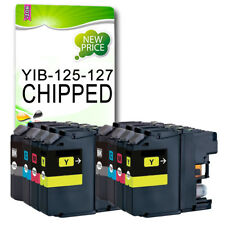 8 CHIPPED Ink Cartridge Replace For LC127 MFC-J4510DW MFC-J4610DW MFC-J4710DW