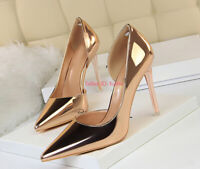 Women Lady Stiletto High Heels Shoes Pointed-toe Wedding Party Pumps Shoe 3.5-9