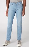 Mens Wrangler Larston tapered slim fit jeans 'Light Blue' FACTORY SECONDS WA187