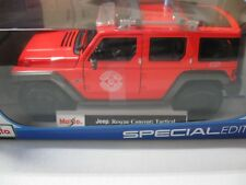 1:18 MAISTO JEEP RESCUE CONCEPT: TACTICAL DIECAST RED