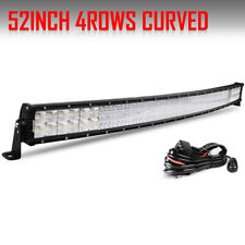 """Quad-Row 52"""" 6272W Curved CREE LED Light Bar Offroad Truck For Chevy GMC 50/54"""""""