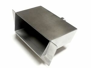 SCUP24SL STAINLESS WATER SCUPPER/ WATERFALL SPILLWAY W/ 1″ LIP; Fire Over Water!