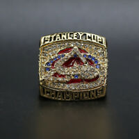 2001 COLORADO AVALANCHE Stanley Cup Championship Ring Size 11 with Wooden Box