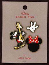 Disney Mickey Mouse Enamel pin set By Junk Food Set of 3 pins set A