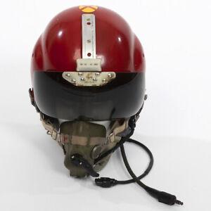 "MK1A PILOT'S HELMET RAF ""BONE DOME"" 1971 SQUADRON LEADER STAMPED."