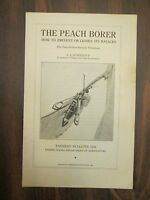 U.S. Department of Agriculture Farmer's Bulletin #1246 The Peach Borer 1921
