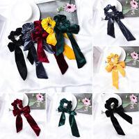 Color  Tassel Hair Ties Elastic Hair Band Bow Hair Ropes Velvet Scrunchies