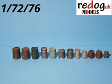 1;72 fuel, oil barrels, kegs - resin kit for dioramas or military vehicle  /br2