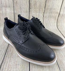 Cole Haan GrandEvolution Black Leather Oxfords Men's Dress Shoes C26307 13 M