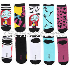 Disney The Nightmare Before Christmas Sally Ragdoll Bats No Show socks 5 Pk New