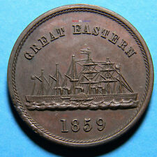 USA 1859 Great Eastern medal (0699)  Dies cut by Joeseph H Merriam - Miller 2051