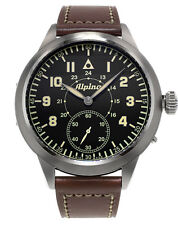 Alpina AL-435LB4SH6 Heritage Pilot Hand-Winding Steel Case Black Dial Watch