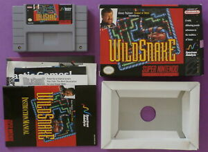 WildSnake (Super Nintendo Entertainment System, 1994) with Box & Booklet