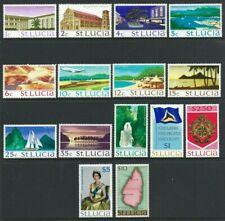 St Lucia 1970, Definitive Set of 15 sg276/89a MNH