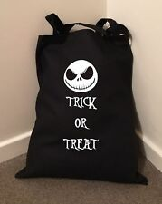 Trick or Treat Halloween Bolsa De Tim Burton Algodón Bolso Bolso de compras 38cmx43cm