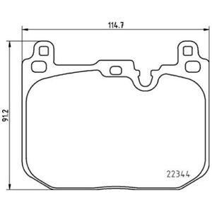 1 Kit de plaquettes de frein, frein à disque BREMBO P 06 097 convient à MINI